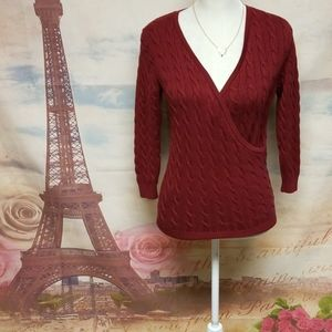 Ann Taylor cable knit v-neck sweater